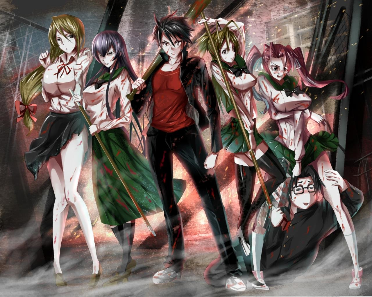 High resolution Highschool Of The Dead hd 1280x1024 background ID:447750 for desktop