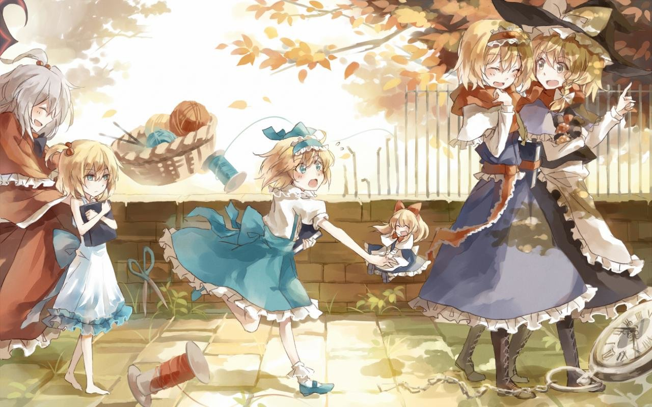 Awesome Touhou free wallpaper ID:225370 for hd 1280x800 PC