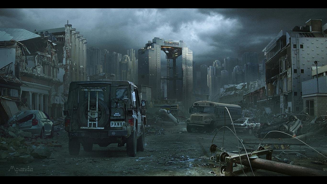 High Resolution Post Apocalyptic Hd 1366x768 Wallpaper Id