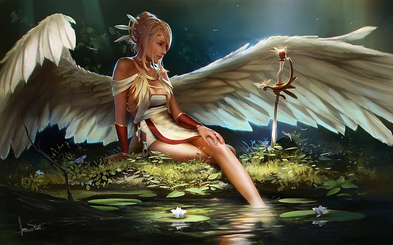 Download hd 1280x800 Angel computer background ID:7097 for free