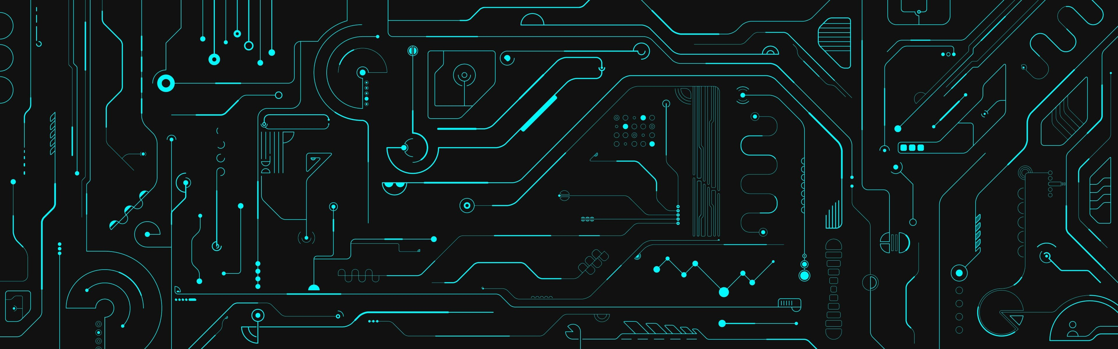Awesome Circuit free background ID:89594 for dual monitor 3840x1200 PC