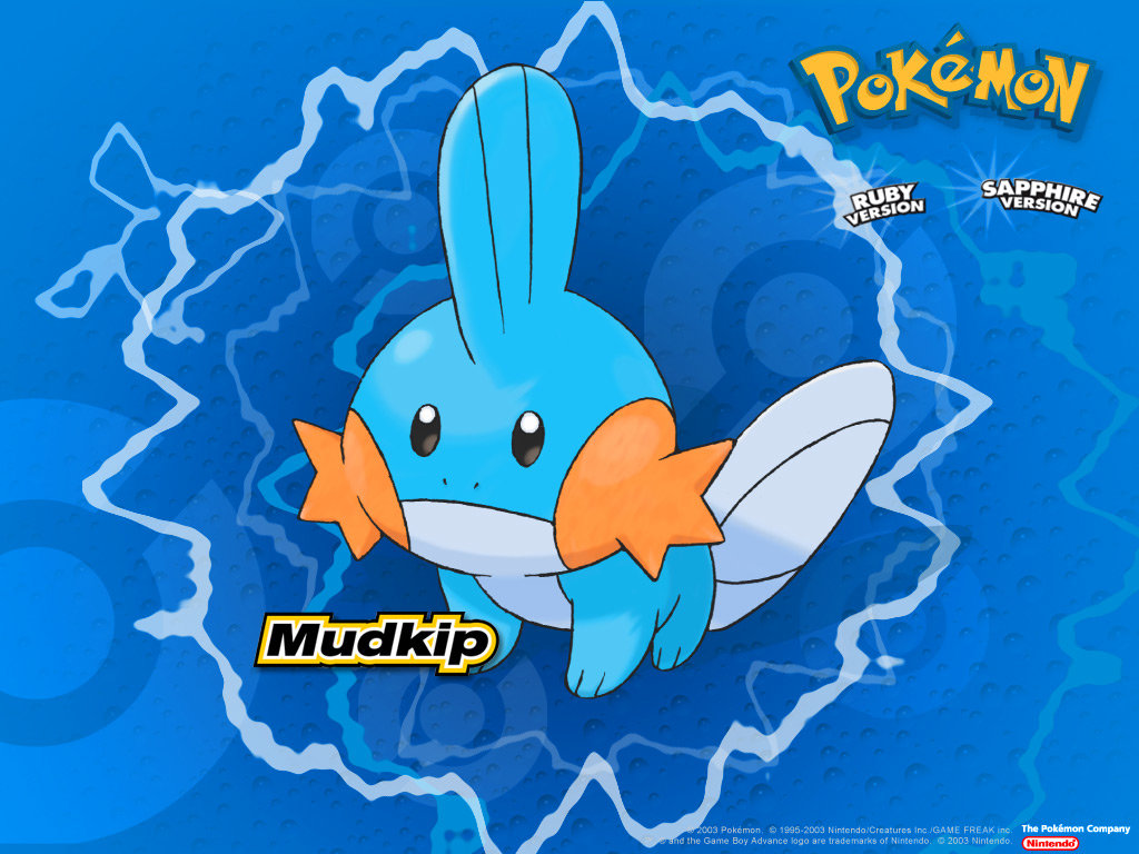 High resolution Mudkip (Pokemon) hd 1024x768 background ID:280242 for desktop