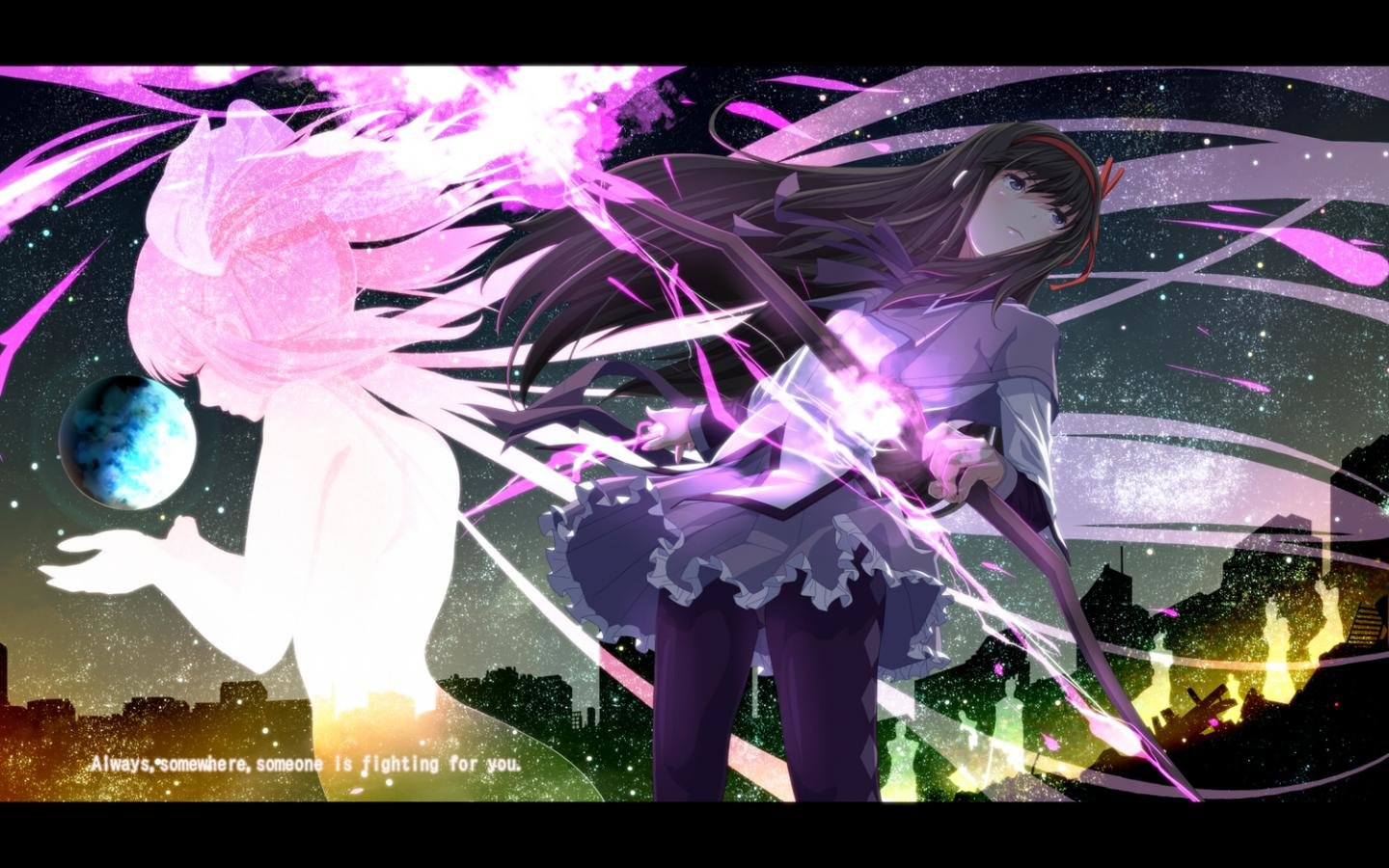 Awesome Homura Akemi free wallpaper ID:31450 for hd 1440x900 PC