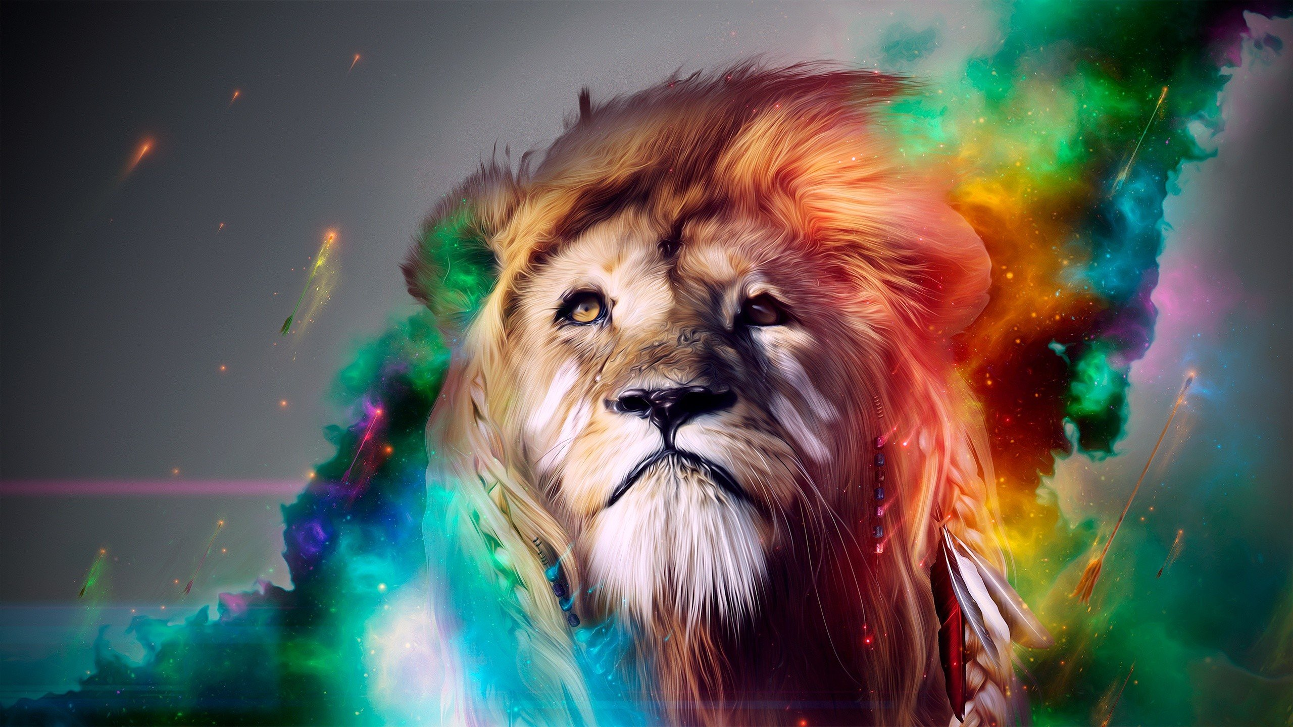 High resolution Lion hd 2560x1440 background ID:255155 for desktop