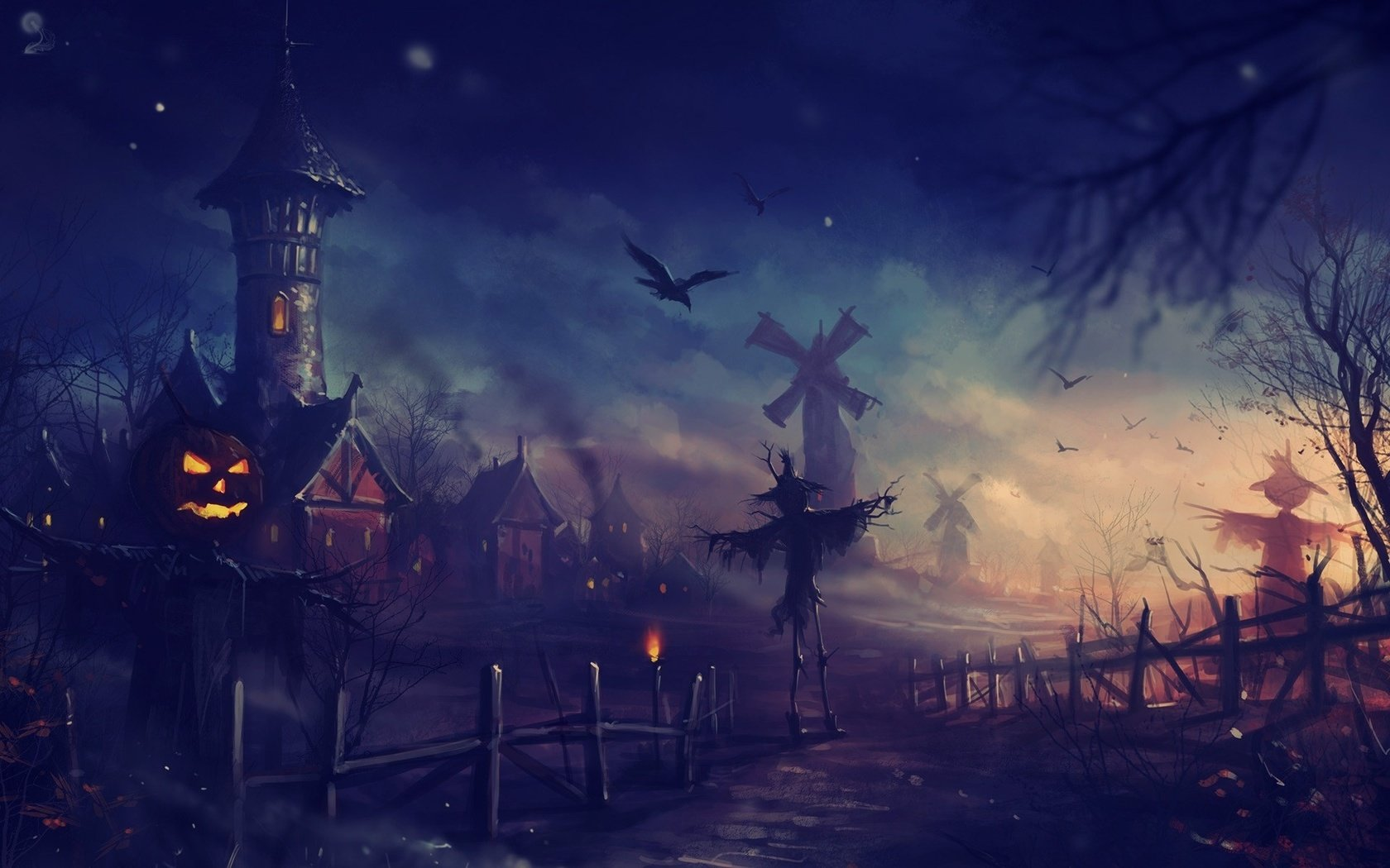 Awesome Halloween free wallpaper ID:402393 for hd 1680x1050 PC
