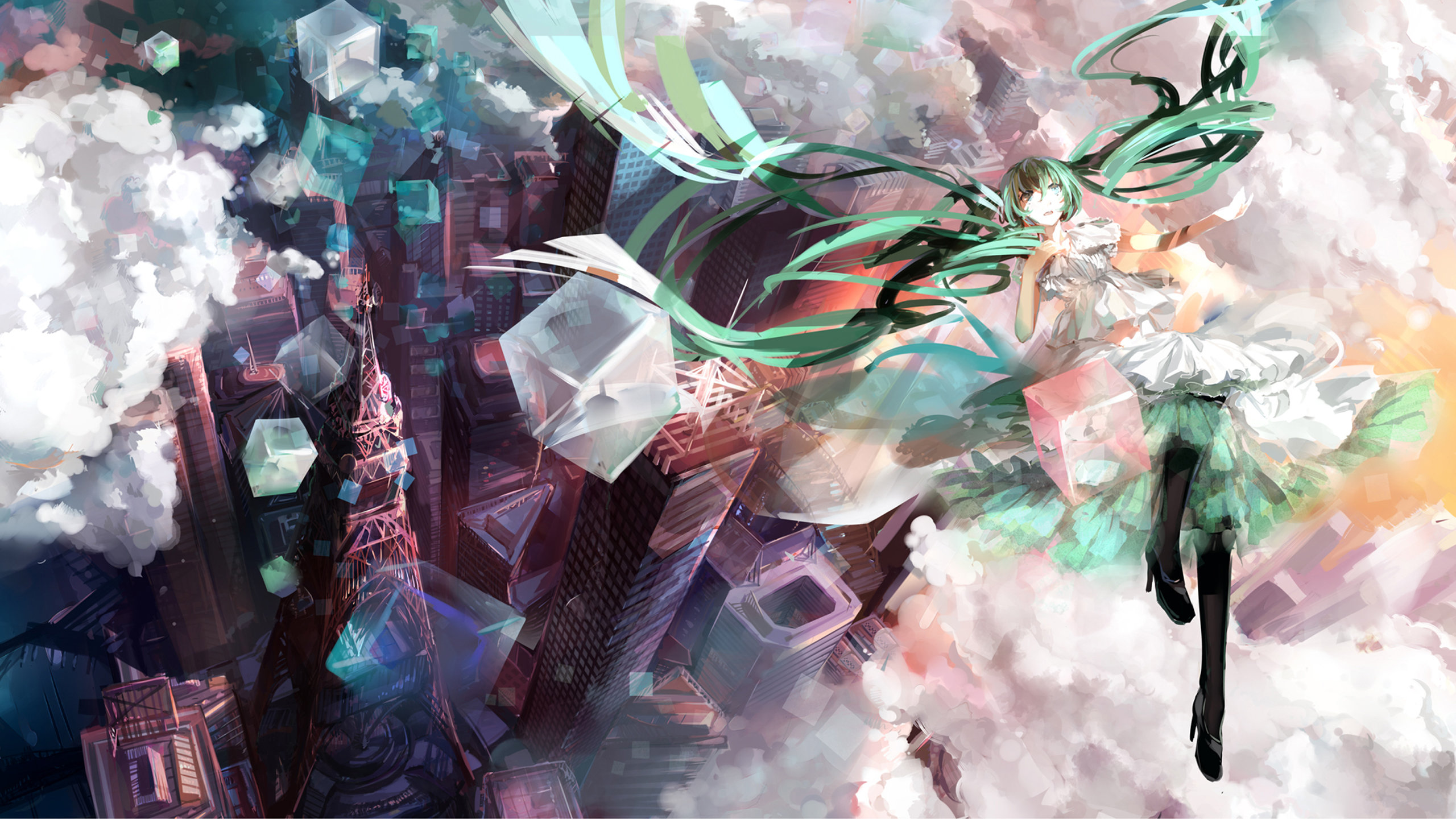 Free download Hatsune Miku background ID:471 hd 2560x1440 for desktop