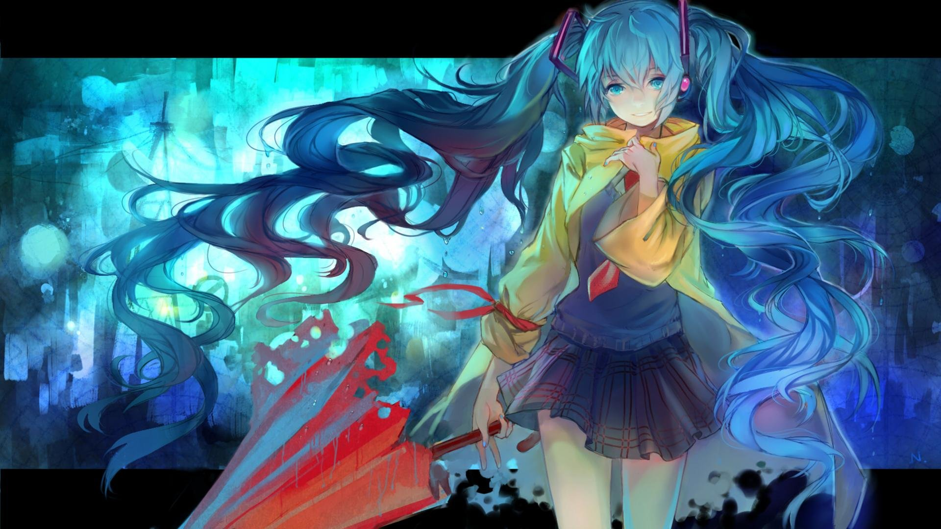 High resolution Hatsune Miku full hd 1080p background ID:260 for desktop