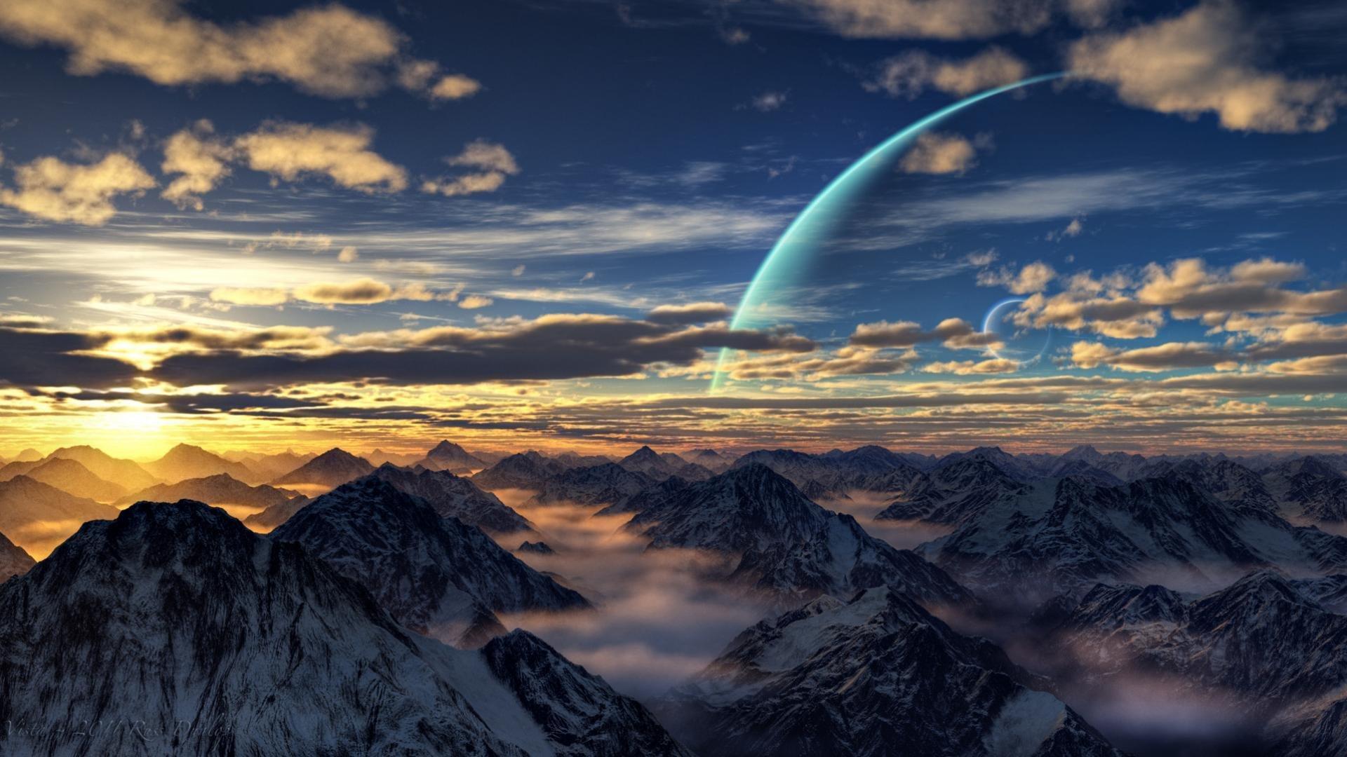 High Resolution Sci Fi Landscape Full Hd Wallpaper Id233160