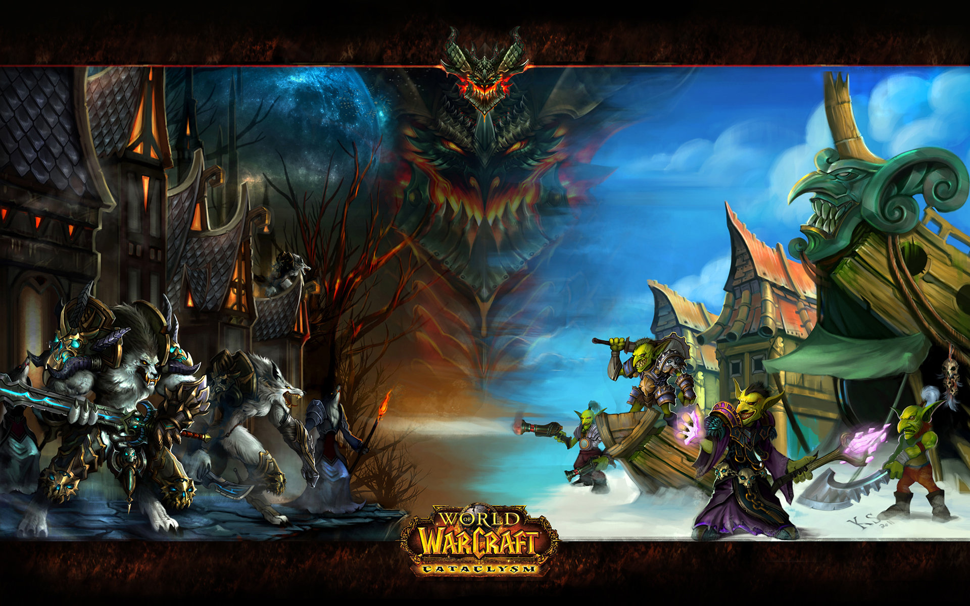World Of Warcraft Cataclysm Wallpapers 1920x1200 Desktop