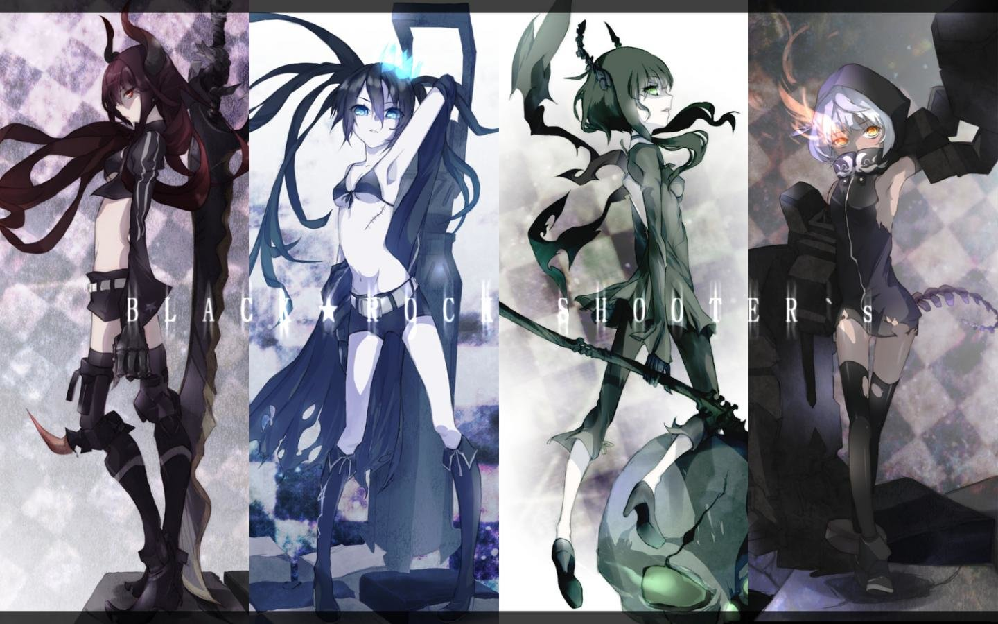 Free download Dead Master (Black Rock Shooter) background ID:454968 hd 1440x900 for computer