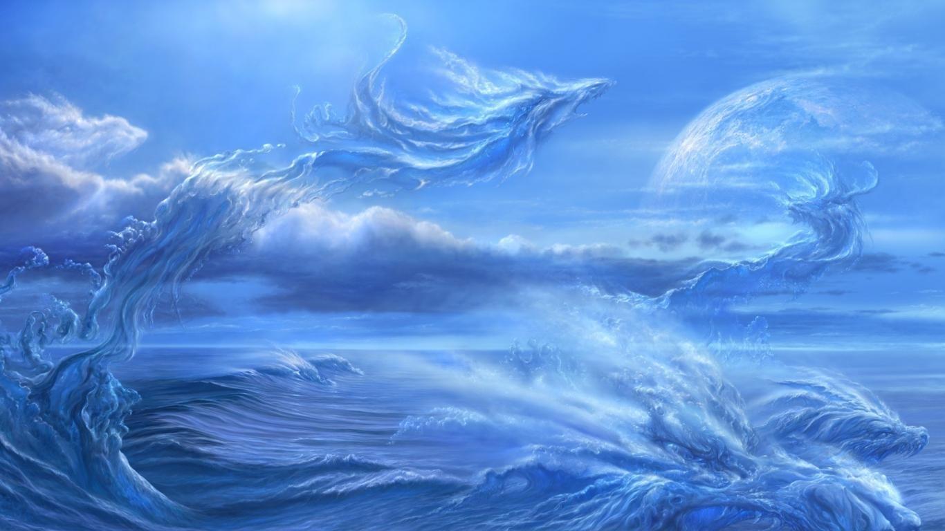 fantasy ocean background laptop 306149