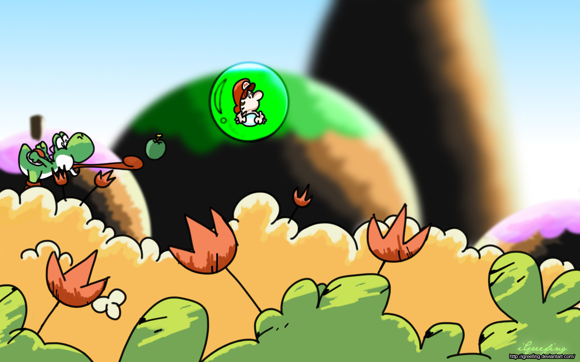 Best Super Mario World 2: Yoshi's Island wallpaper ID:321671 for High Resolution hd 1920x1200 PC