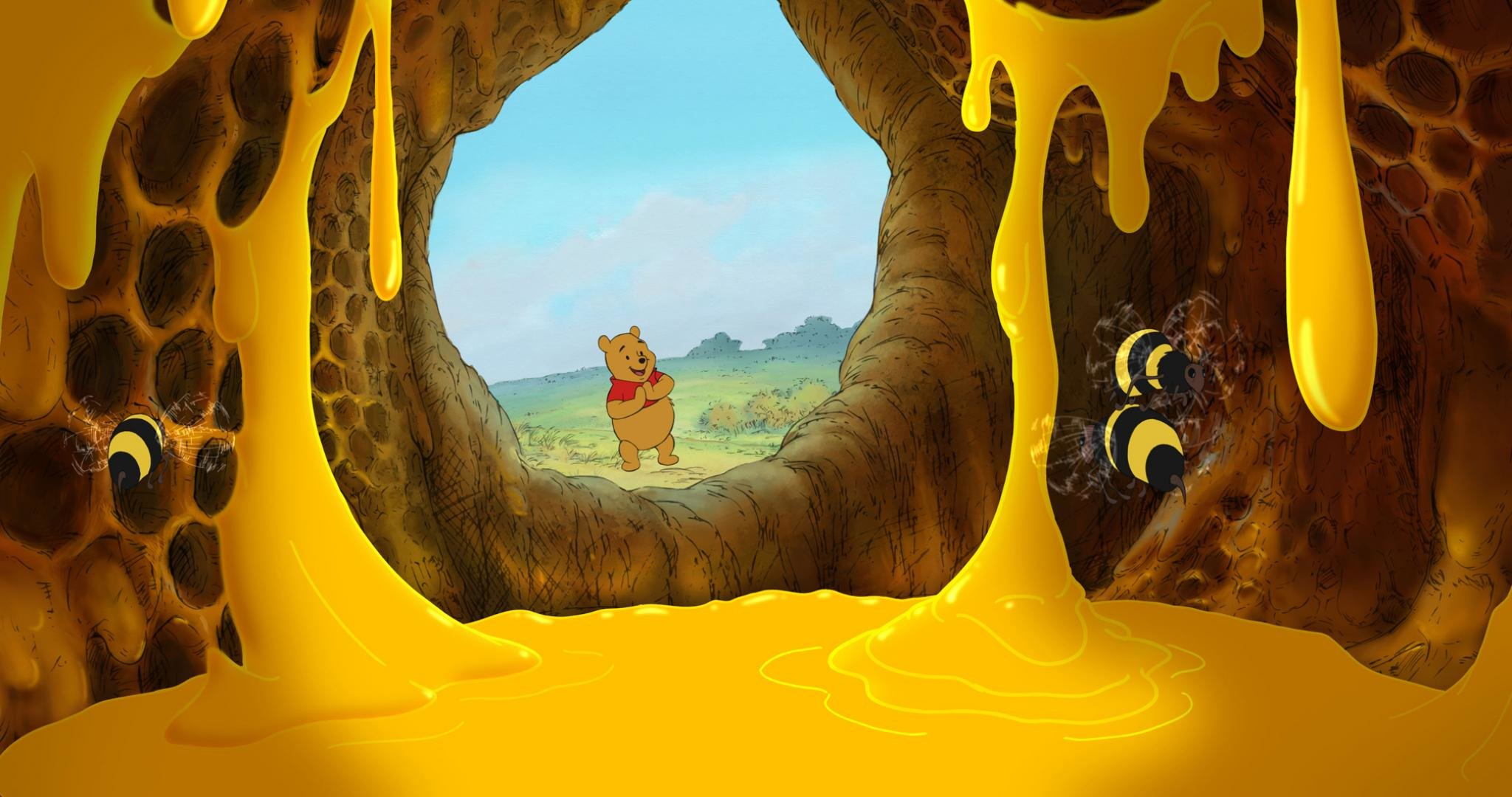 Awesome winnie the pooh free background id74462 for hd 2048x1080 pc voltagebd Images