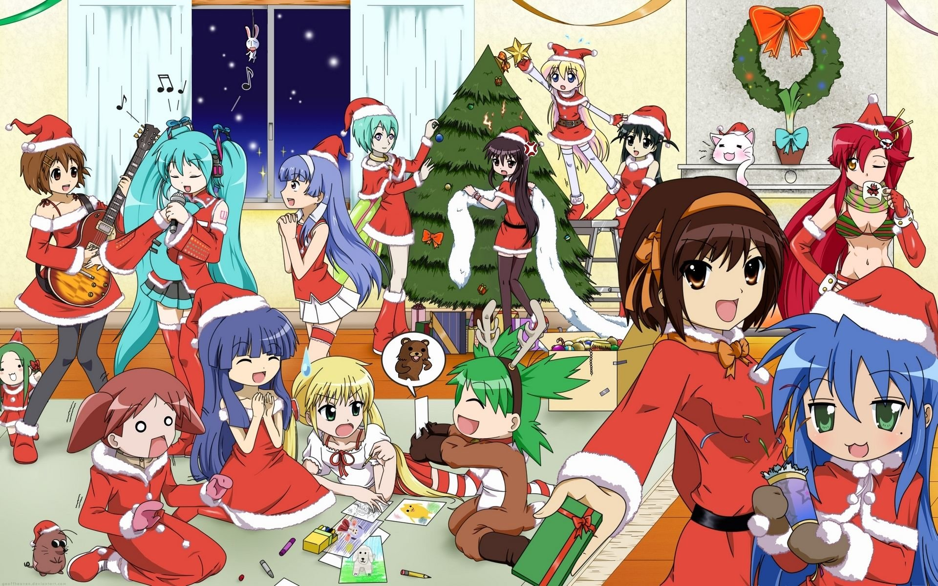 Awesome Christmas Anime free wallpaper ID:24845 for hd 1920x1200 computer