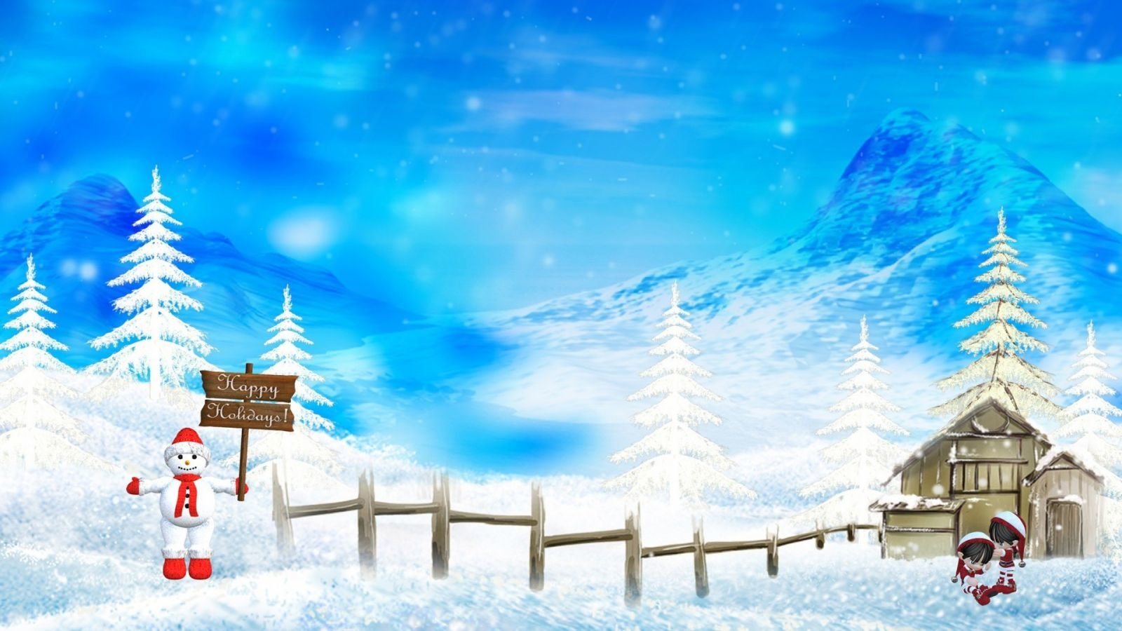 christmas wallpapers 1600x900 desktop backgrounds
