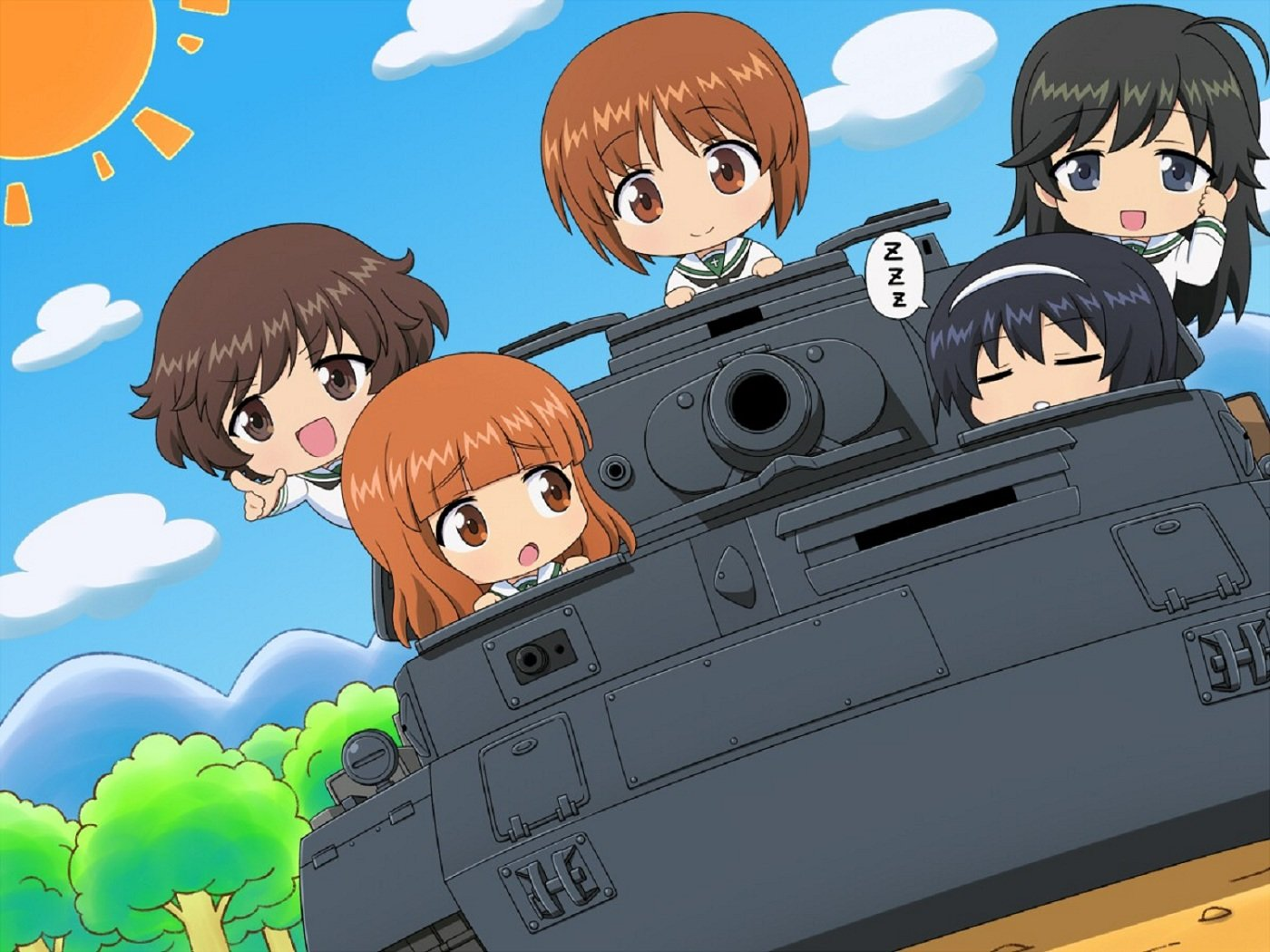 High resolution Girls Und Panzer hd 1400x1050 wallpaper ID:208378 for PC