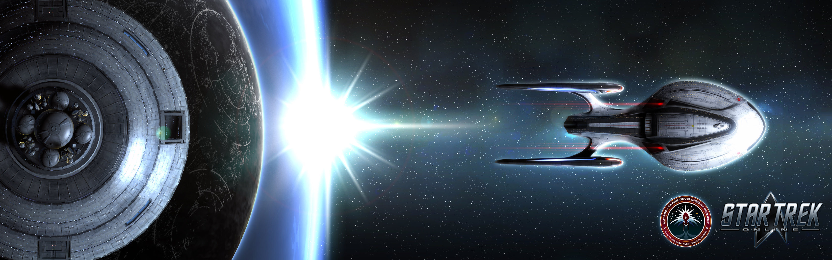 High resolution Star Trek Video Game dual screen 3360x1050 background ID:276314 for computer