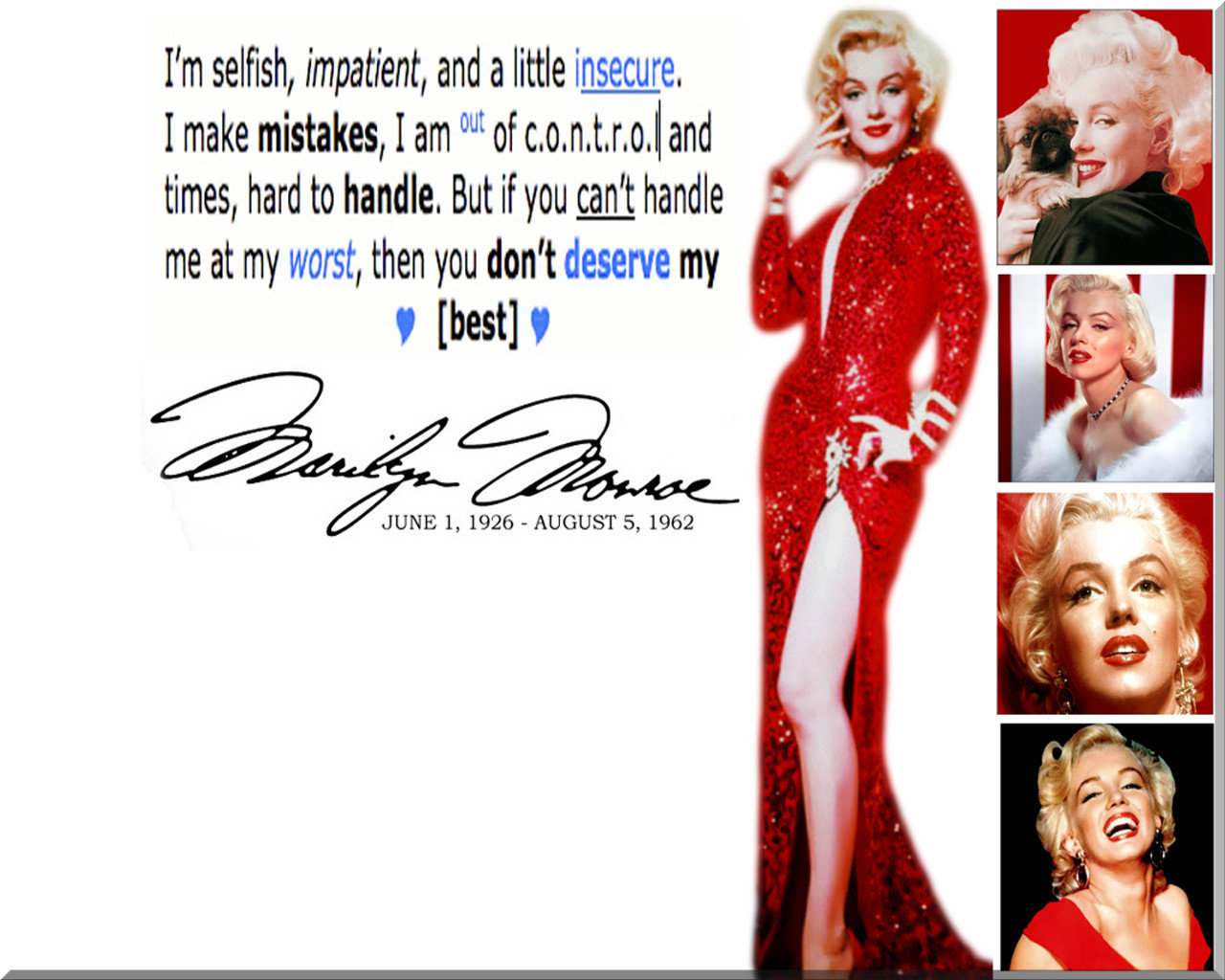 Download hd 1280x1024 Marilyn Monroe PC wallpaper ID:119478 for free