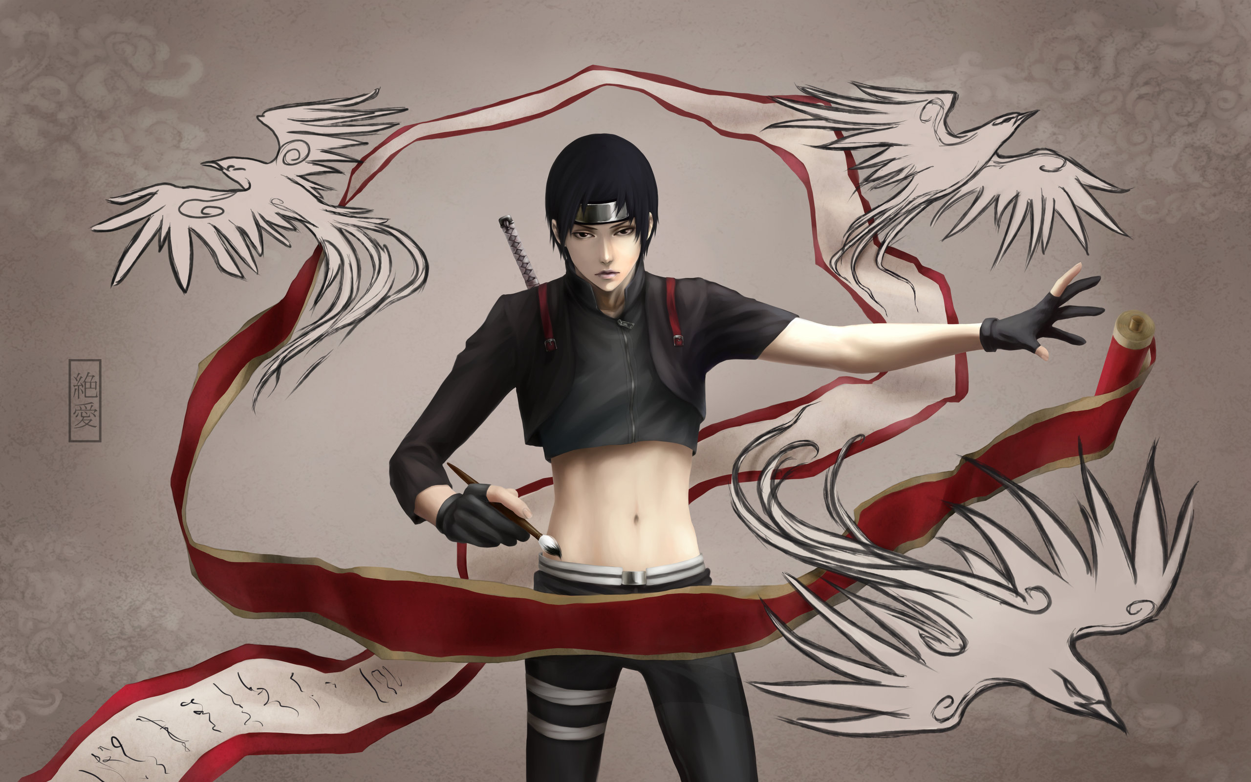 Free download Sai (Naruto) wallpaper ID:396262 hd 2560x1600 for PC