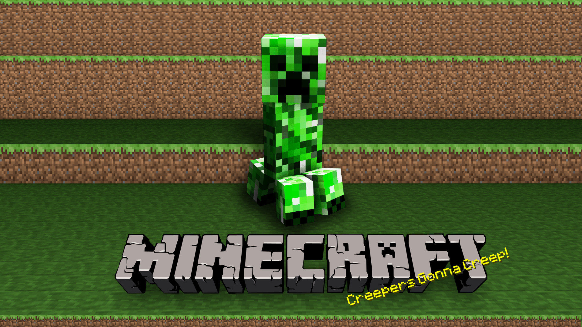 Download hd 1920x1080 Creeper (Minecraft) computer wallpaper ID:385686 for free