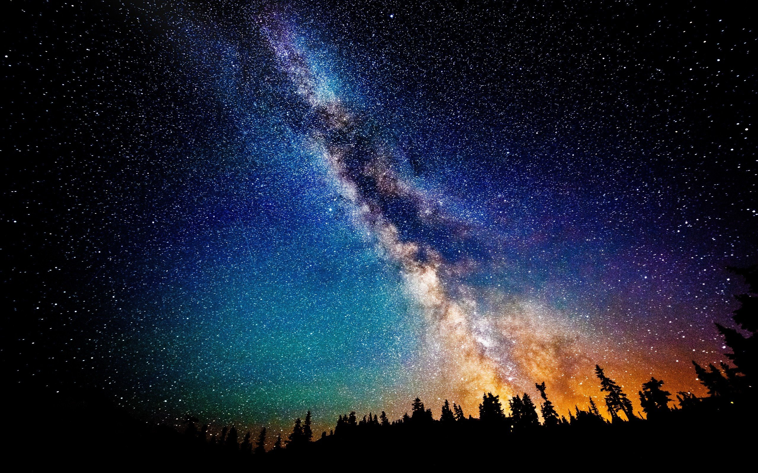 Free download Starry & Night Sky wallpaper ID:19884 hd 2560x1600 for PC