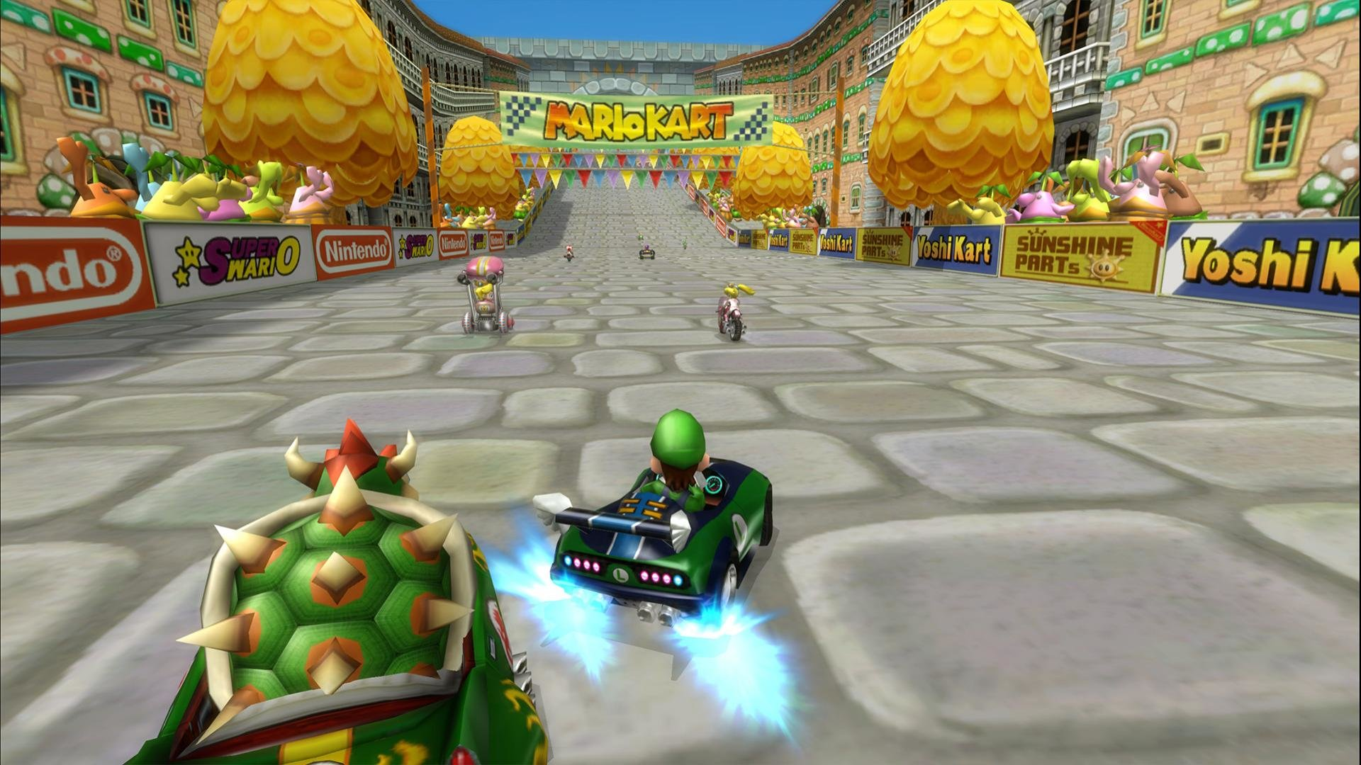 Download full hd Mario Kart Wii PC wallpaper ID:324480 for free