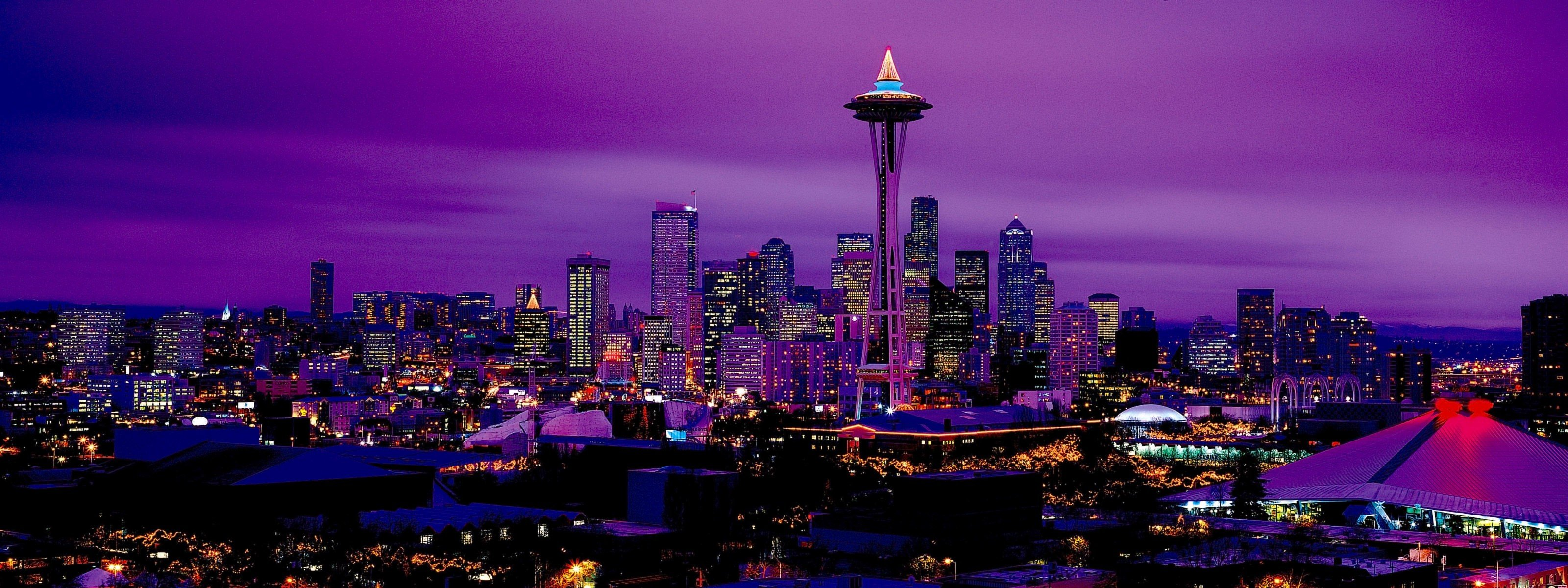 Free download Seattle wallpaper ID:474406 dual monitor 3200x1200 for computer