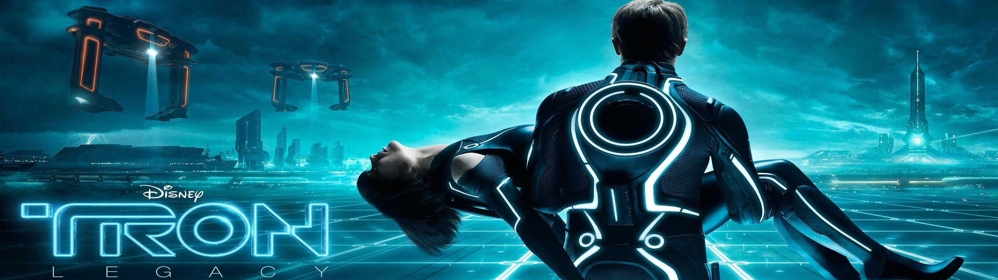 Free TRON: Legacy high quality wallpaper ID:379623 for dual monitor 3200x900 desktop
