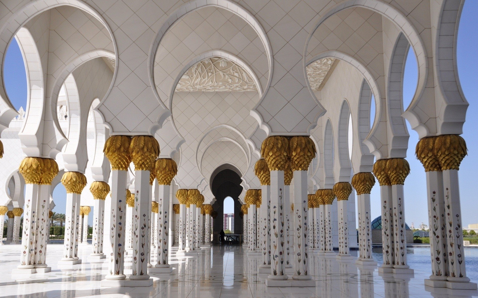 Best Sheikh Zayed Grand Mosque background ID:277843 for High Resolution hd 1920x1200 PC