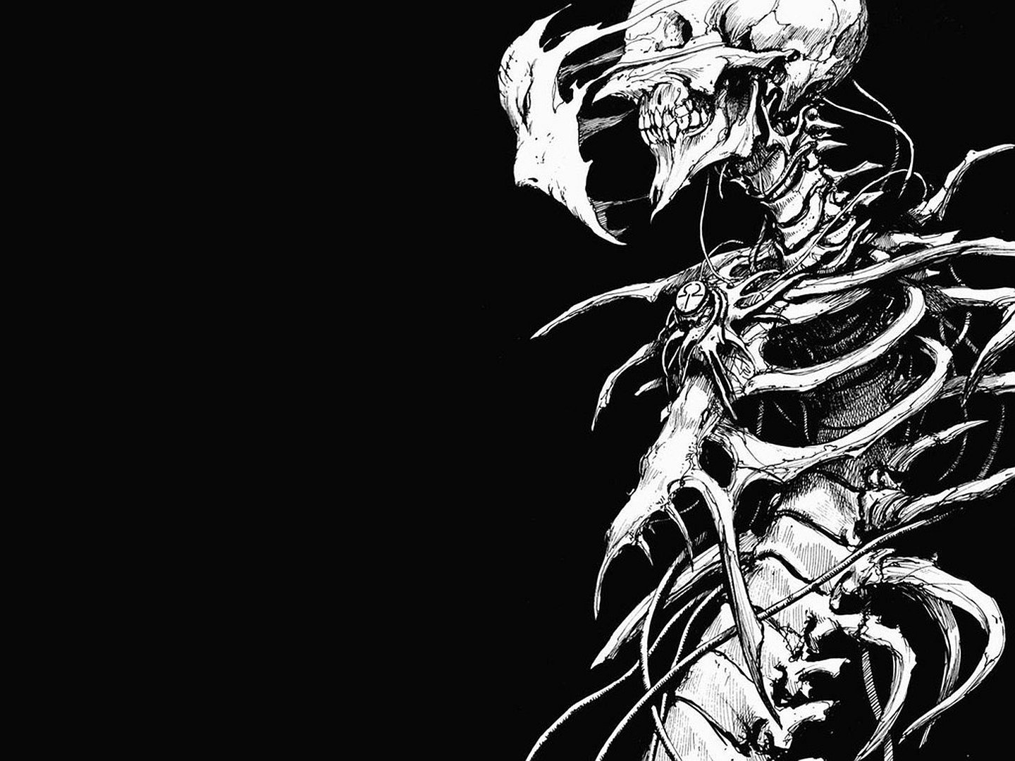 Download hd 1440x1080 Skeleton computer wallpaper ID:125433 for free