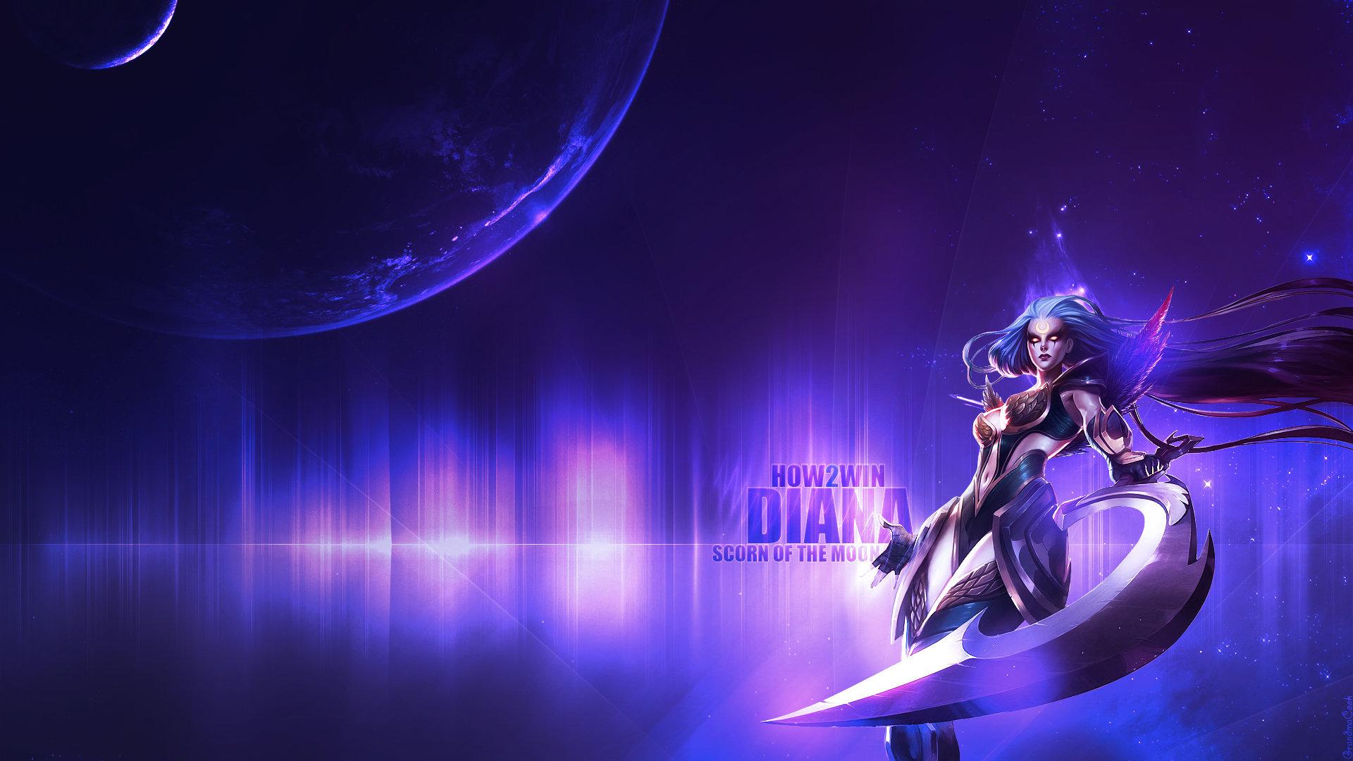 Diana League Of Legends Wallpapers Hd For Desktop Backgrounds