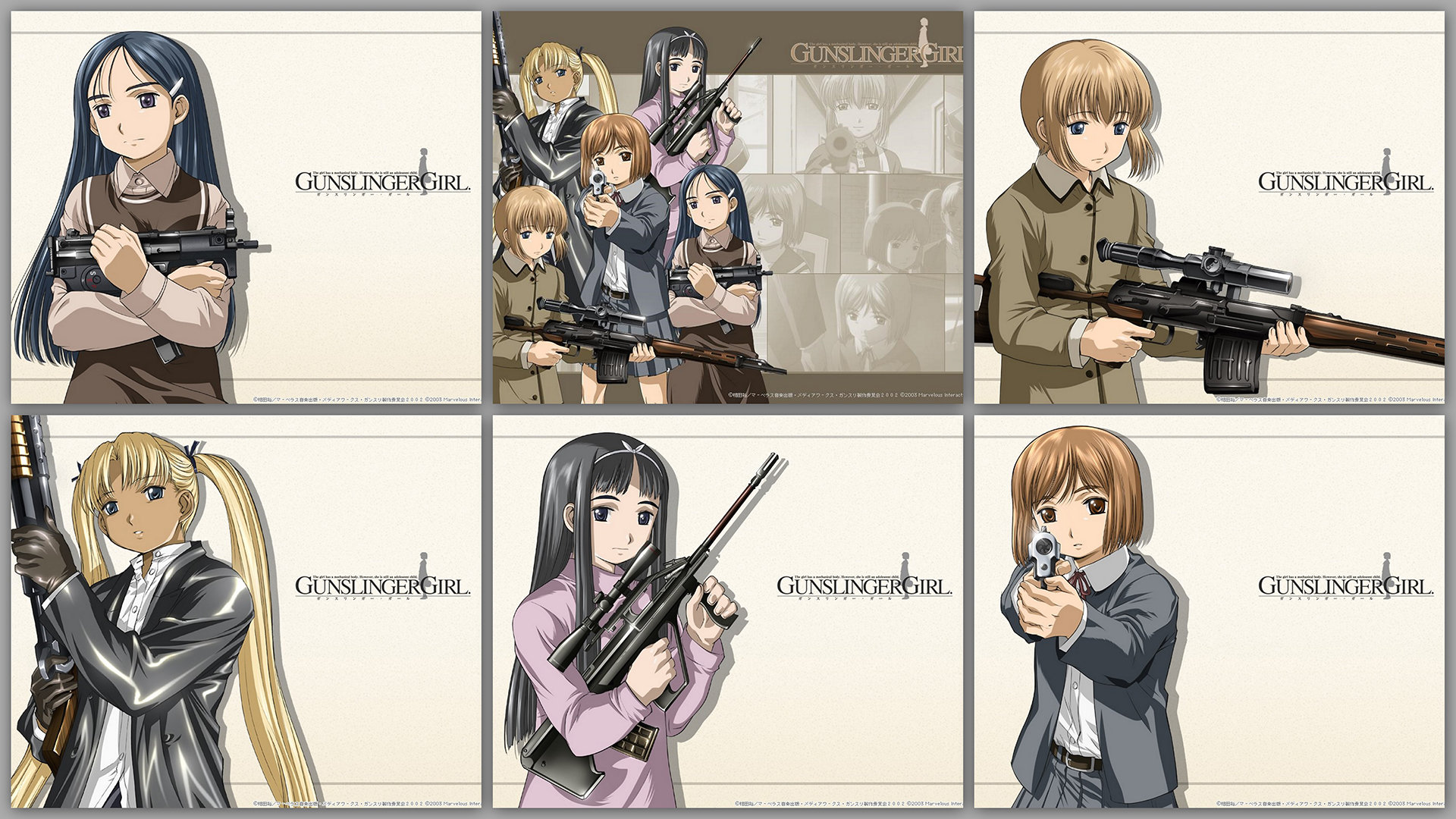 Download full hd 1920x1080 Gunslinger Girl PC wallpaper ID:357736 for free