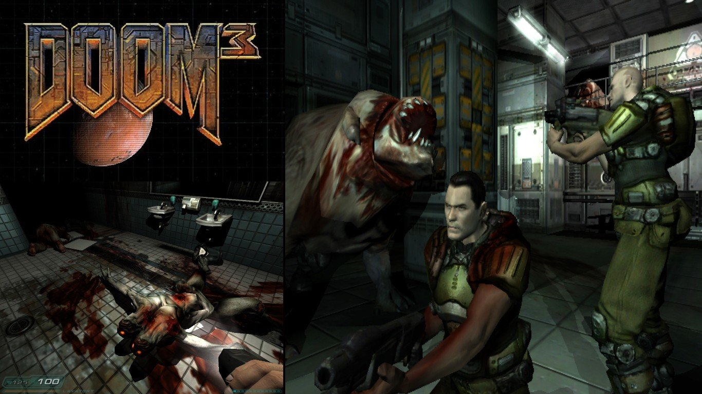Free download Doom 3 background ID:10666 1366x768 laptop for