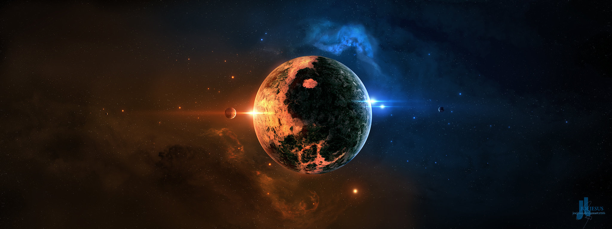 Best Planets background ID:153732 for High Resolution dual monitor 2048x768 computer