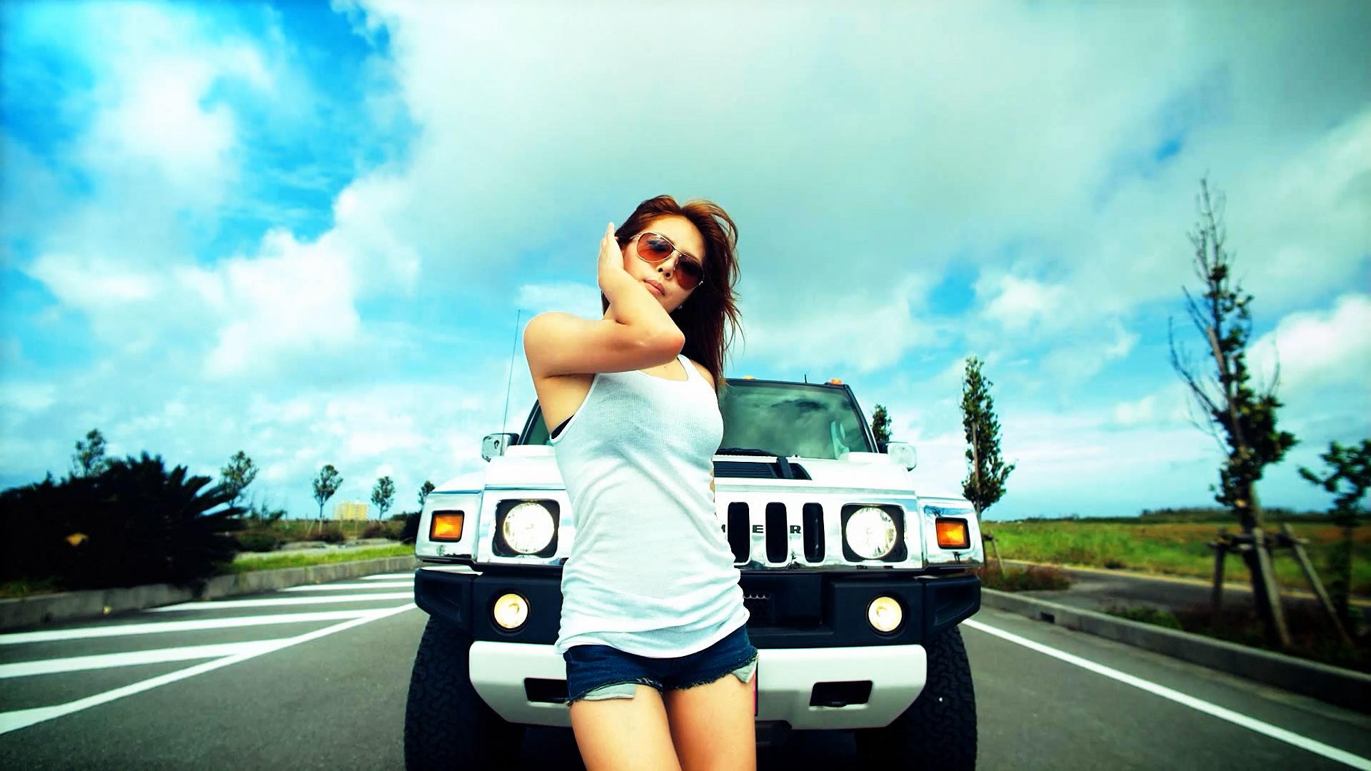 girls and cars wallpaper full hd 219260