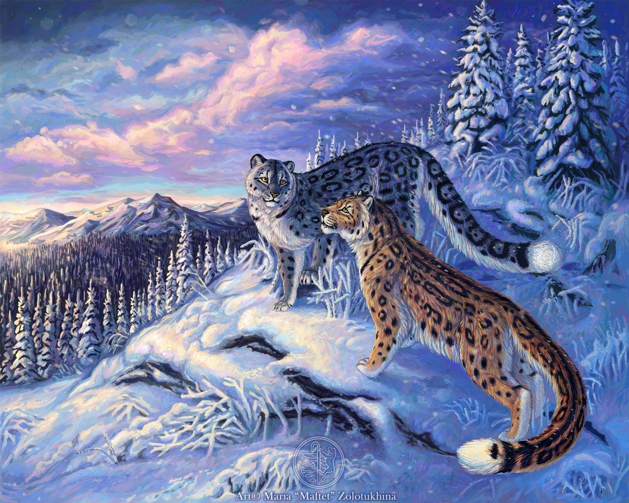 Best Snow Leopard wallpaper ID:34328 for High Resolution hd 1280x1024 desktop