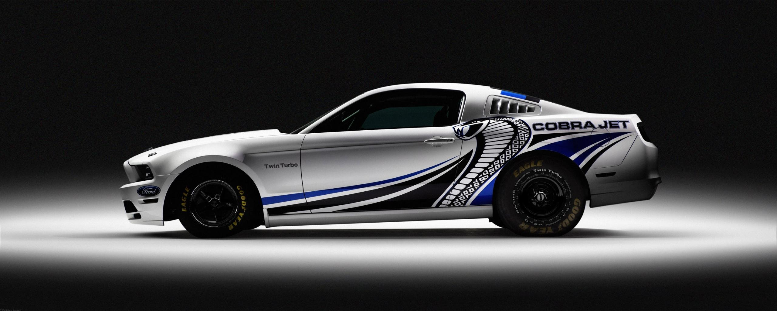 Download Dual Monitor 2569x1024 Ford Mustang Cobra Jet Twin Turbo