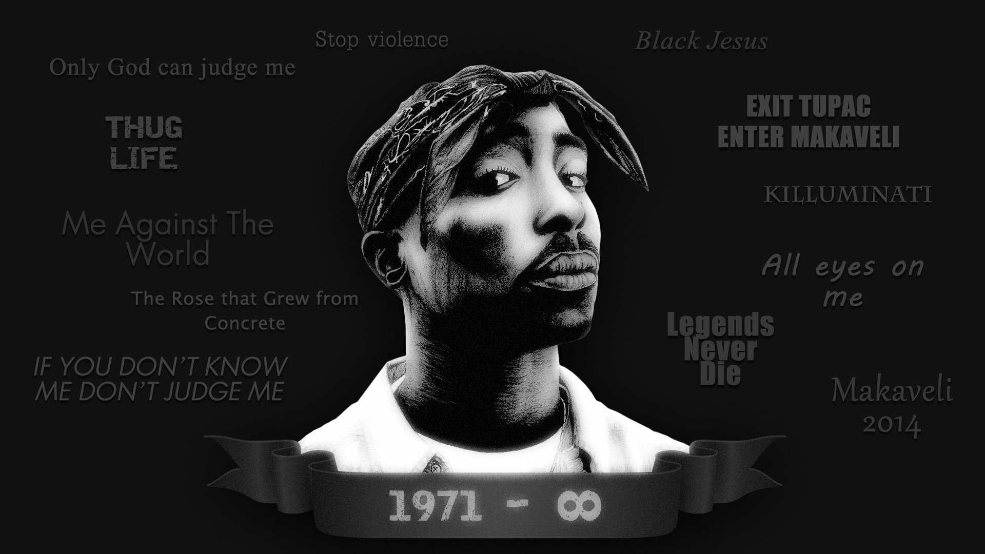 Download hd 1920x1080 2pac (tupac) computer wallpaper ID:259128 for free