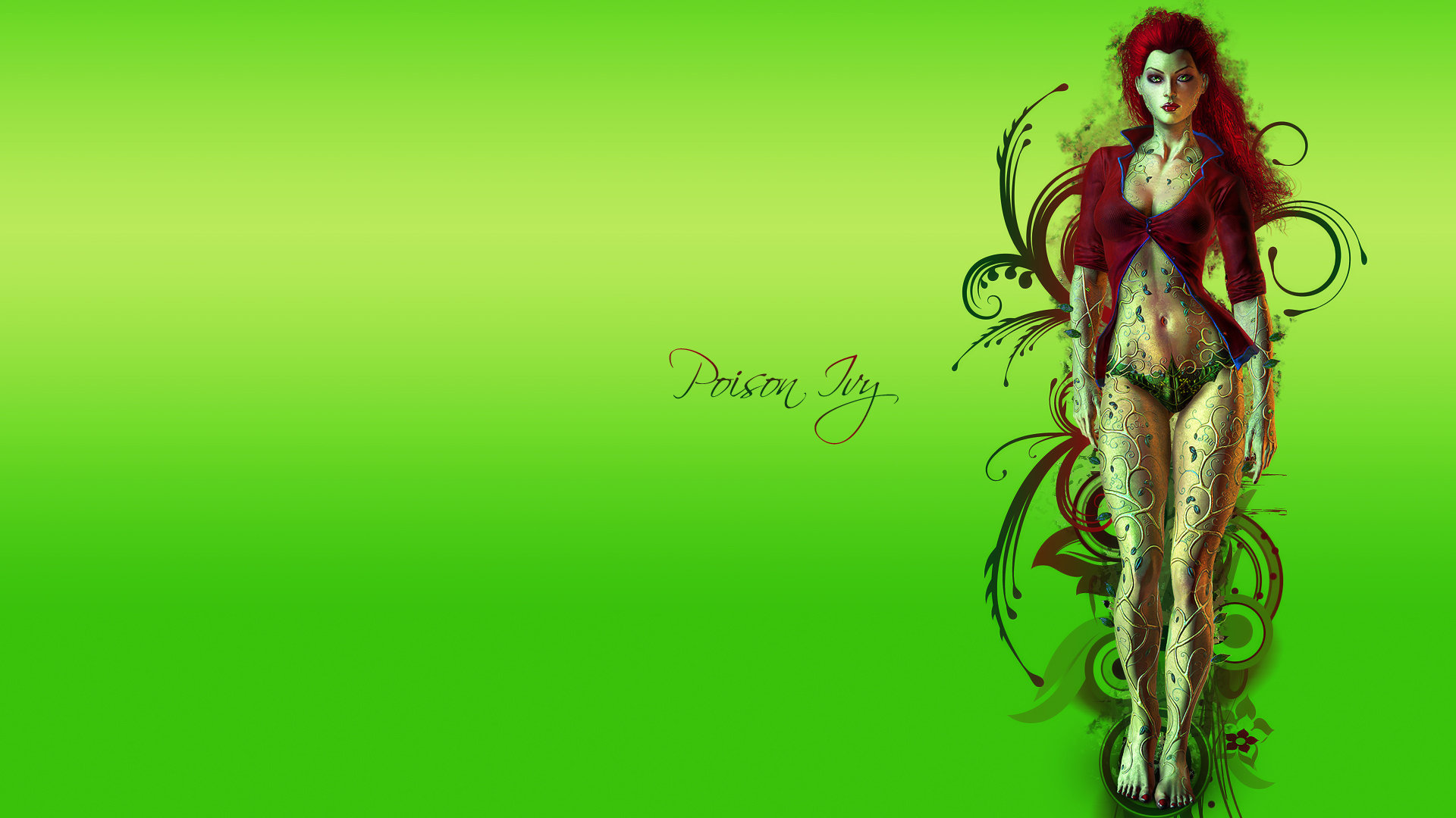 Download hd 1080p Poison Ivy computer wallpaper ID:430636 for free