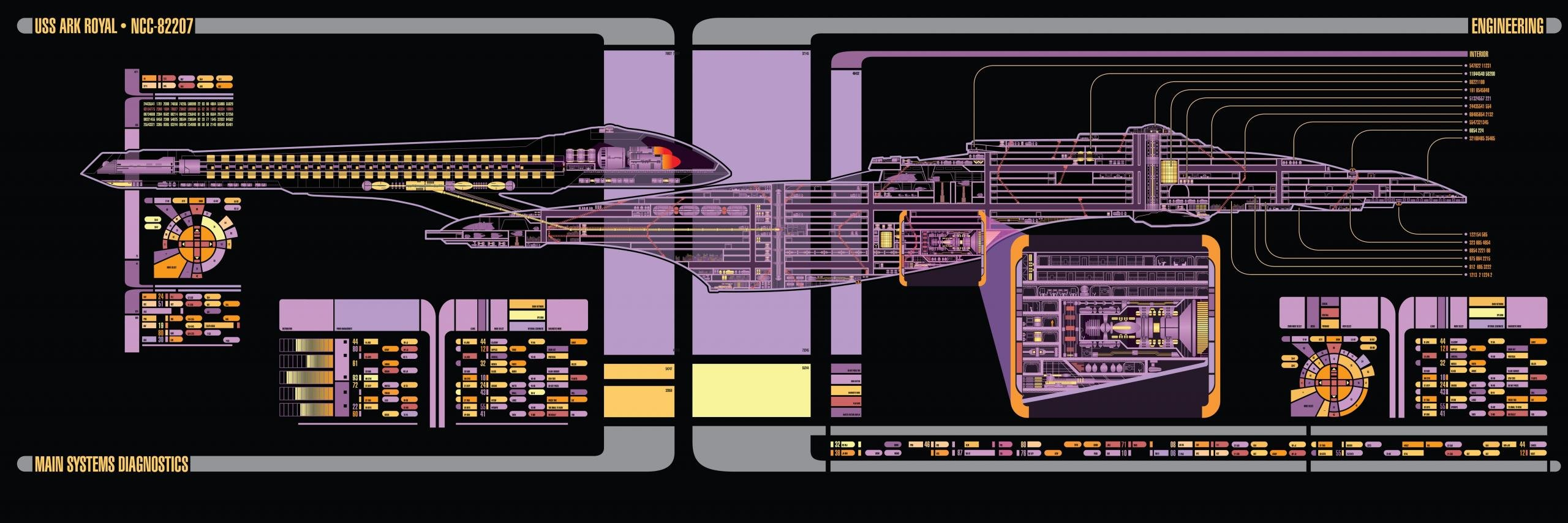 Free Star Trek high quality background ID:389007 for dual screen 2560x854 desktop