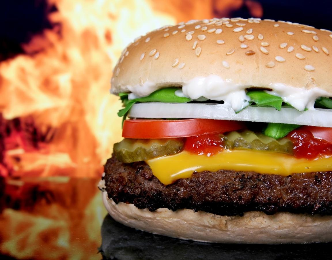 Free Burger high quality background ID:149153 for hd 1152x900 desktop