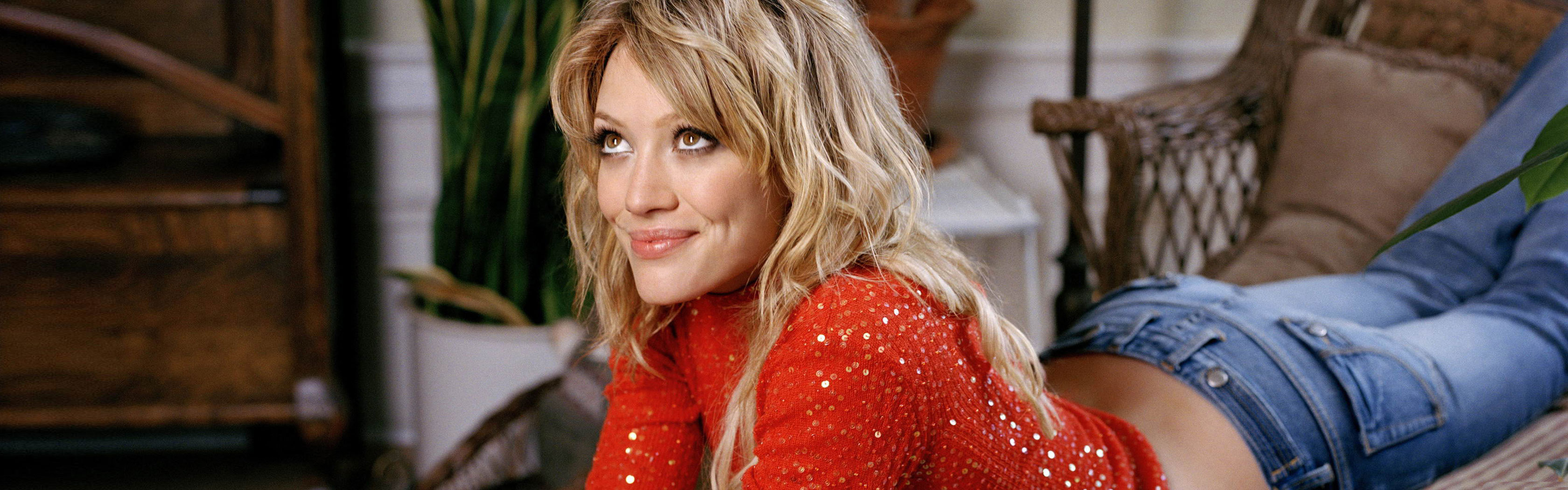 Download dual monitor 3360x1050 Hilary Duff PC background ID:347855 for free