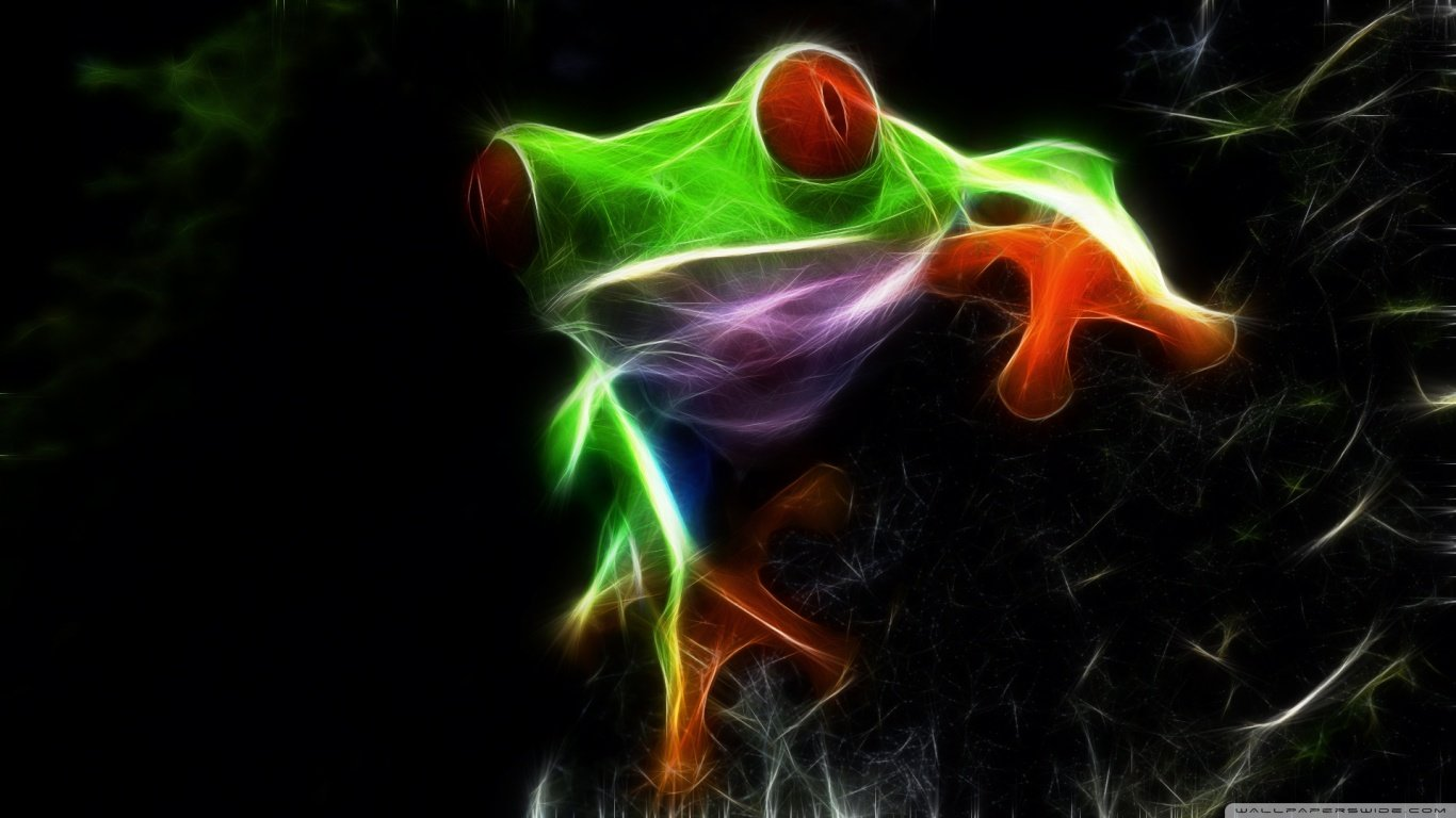 Download 1366x768 laptop Red Eyed Tree Frog computer background ID:20207 for free