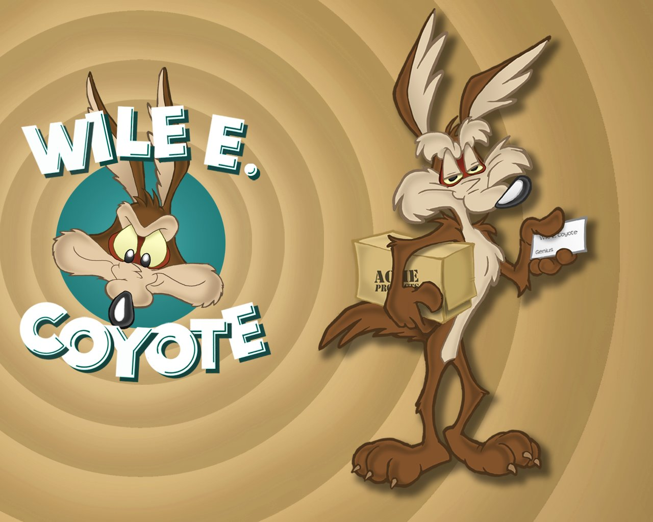 Wile E Coyote wallpapers 1280x1024 desktop backgrounds