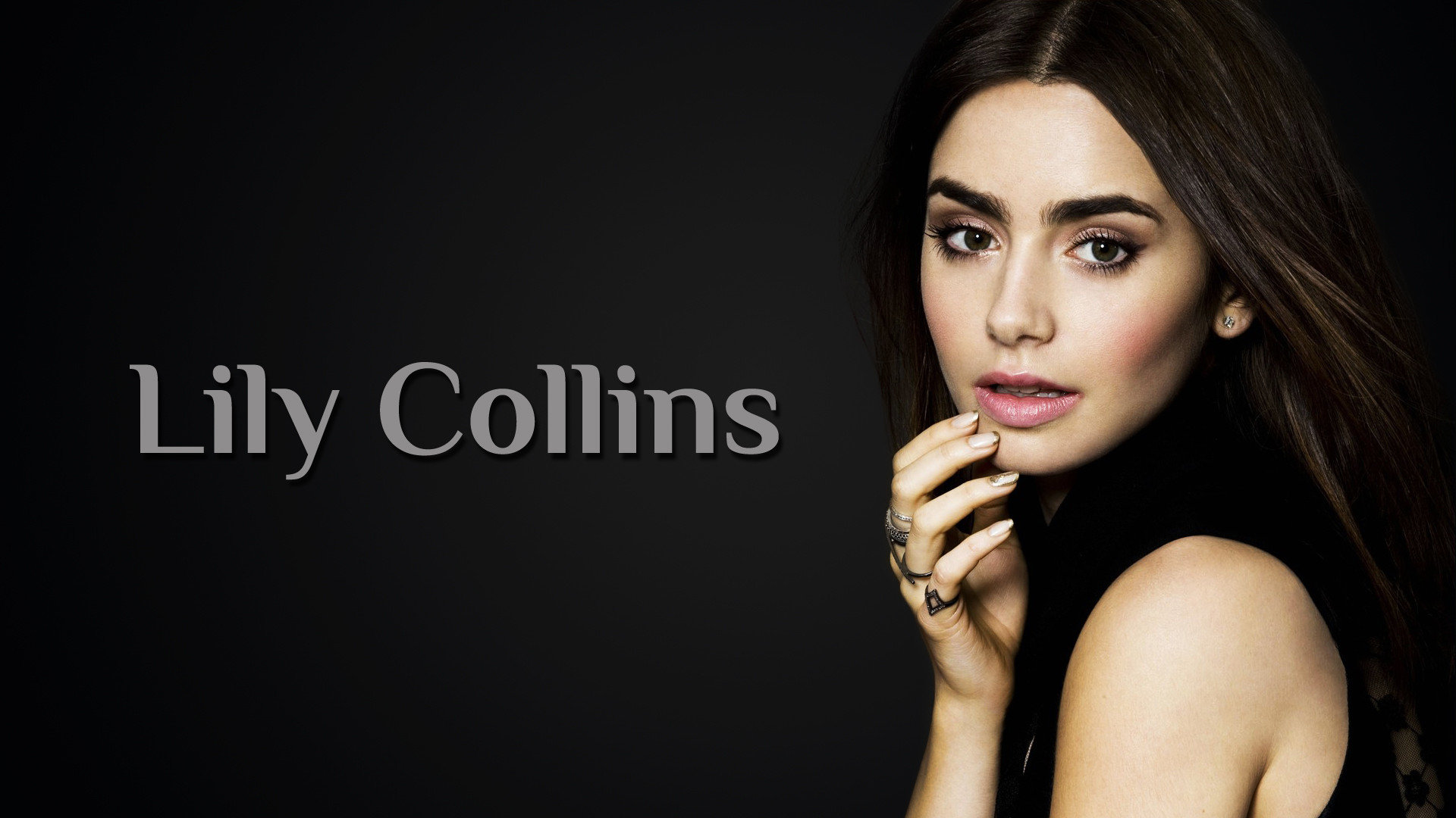 Free Lily Collins high quality background ID:410705 for 1080p computer