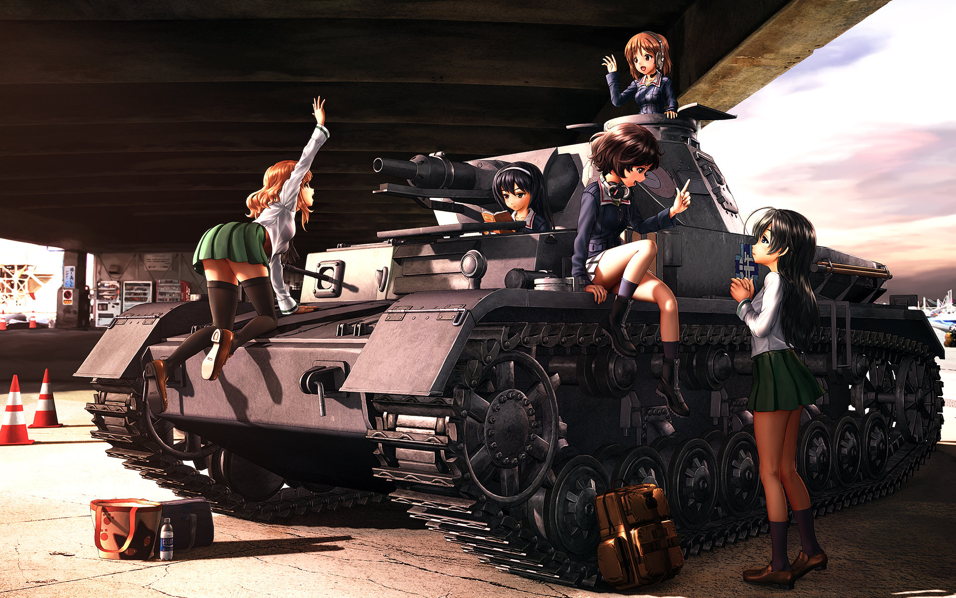 Awesome Girls Und Panzer free wallpaper ID:208180 for hd 1920x1200 PC