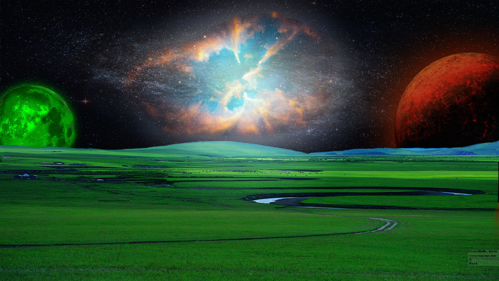 Awesome Sci Fi Landscape Free Wallpaper ID232869 For Hd 1600x900 Computer