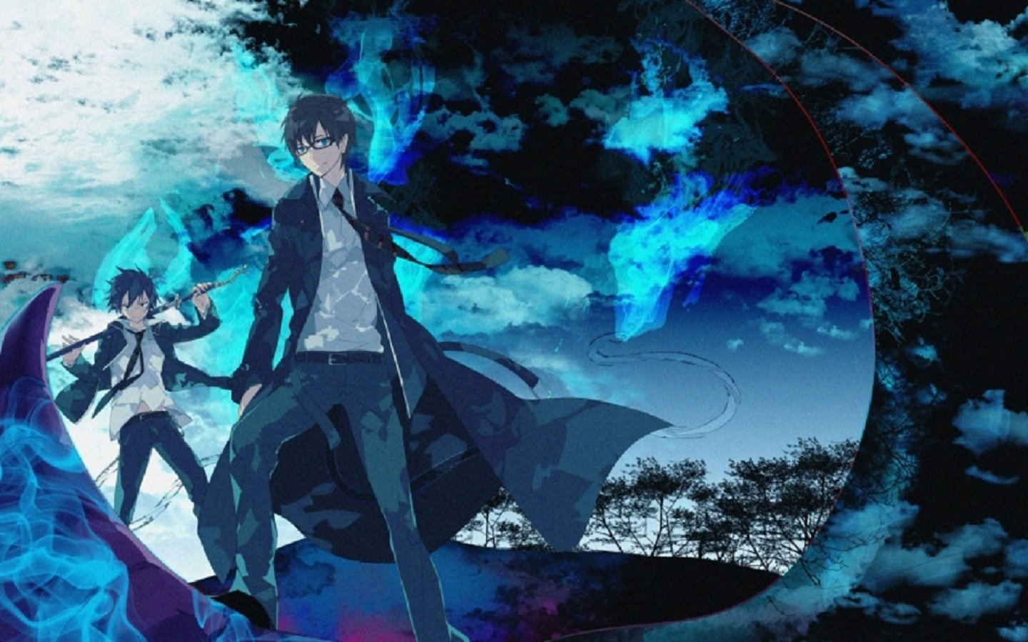 Free download Blue Exorcist (Ao No) background ID:242129 hd 1440x900 for computer