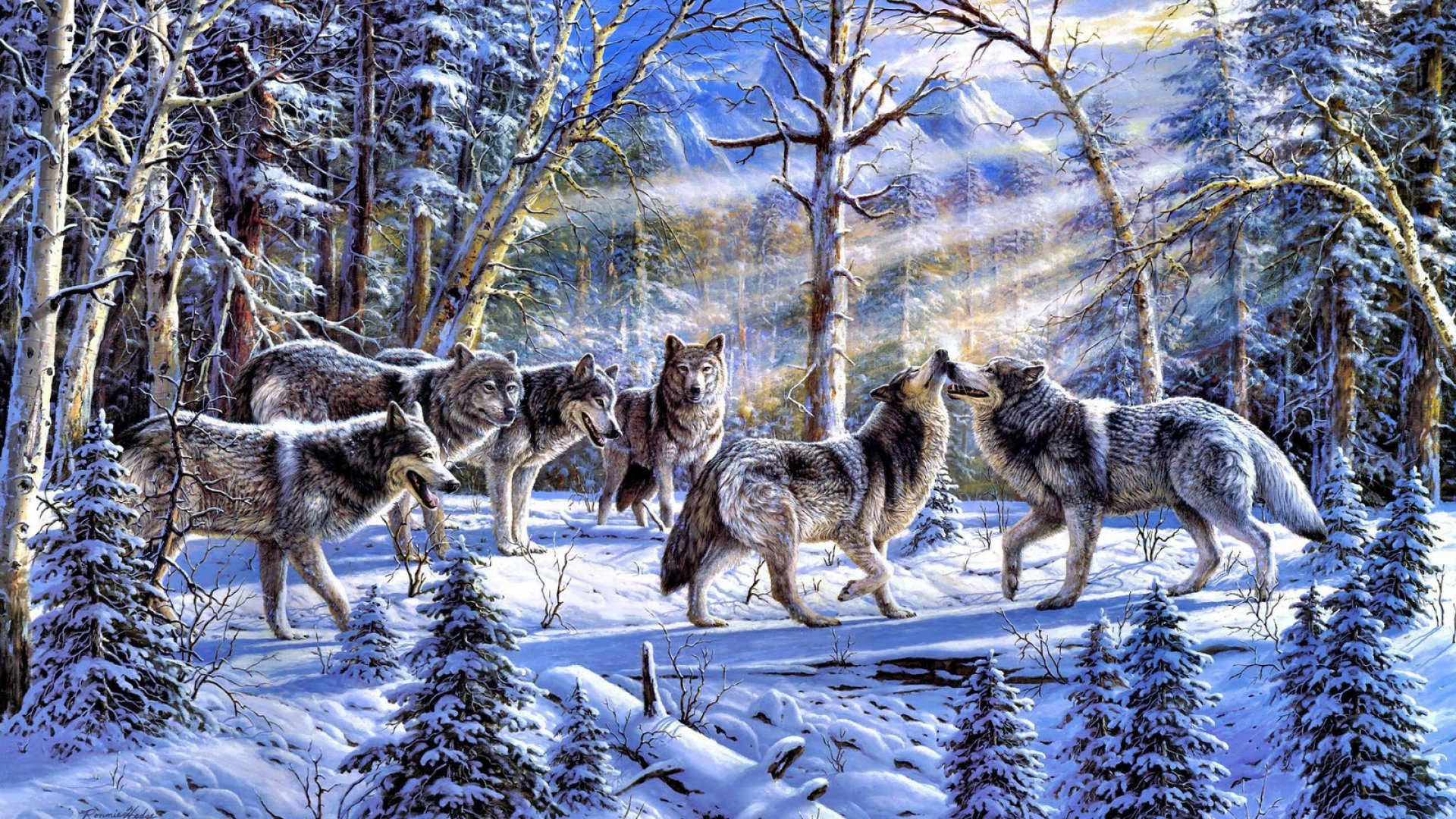 Best Wolf wallpaper ID:118004 for High Resolution 1080p PC