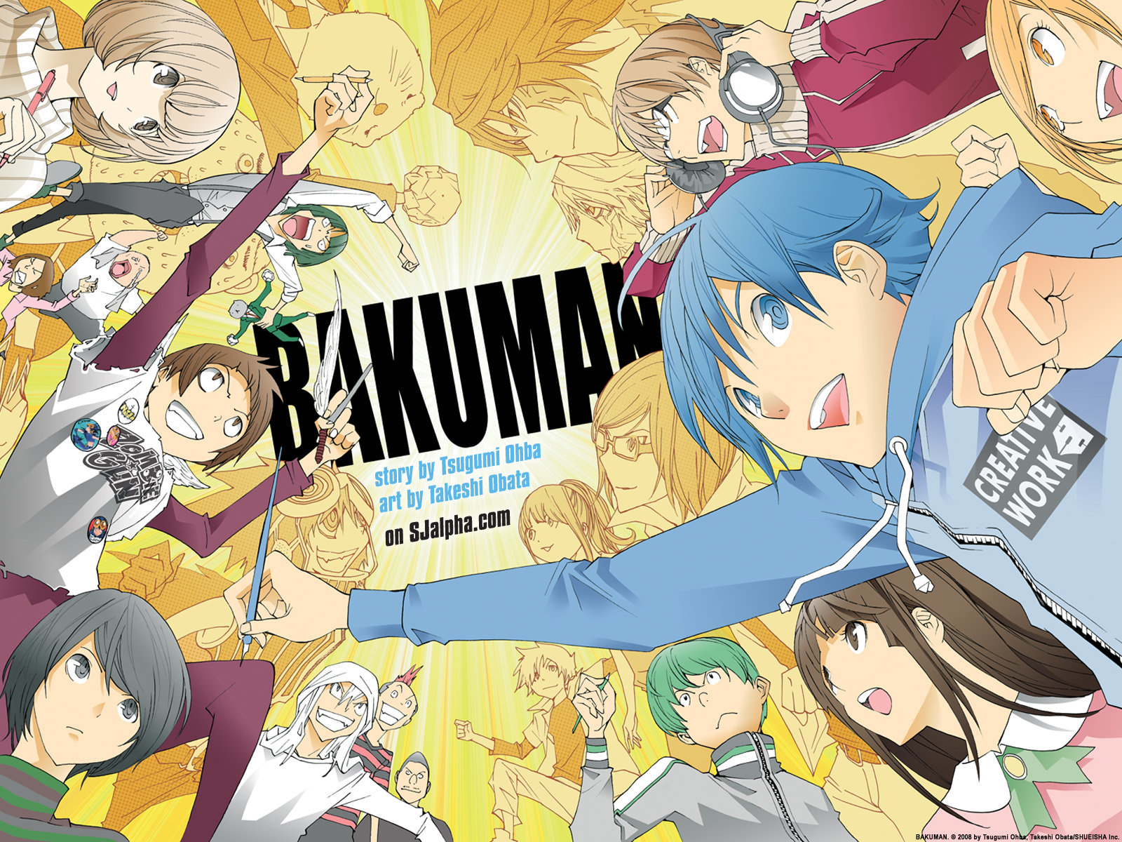 High resolution Bakuman hd 1600x1200 wallpaper ID:470439 for computer